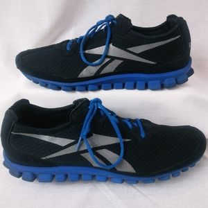 Reebok RealFlex Shoes | Black & Blue - Men's 13